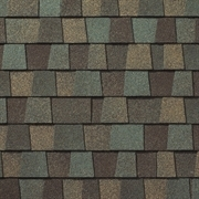 Close up photo of GAF's Timberline American Harvest Cedar Falls shingle swatch