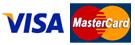 We accept Visa & MC, checks, & ATM Cards